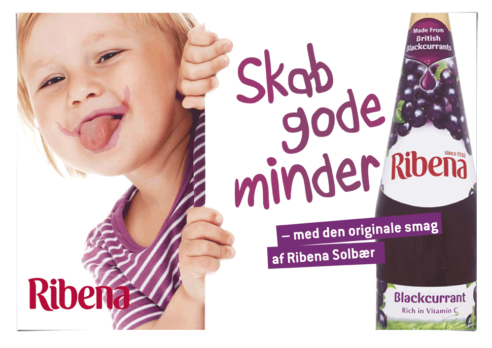ribena, gsk, design by yummi design, concept design, art director signe boye